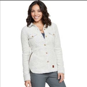 Toad & Co Womans Boxcan Sherpa Overshirt Size M